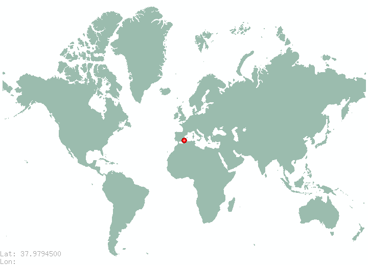 Athens in world map